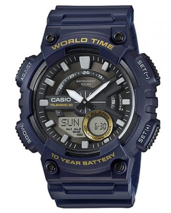 CASIO Collection AEQ-110W-2A Orologio Uomo Analogico Digitale