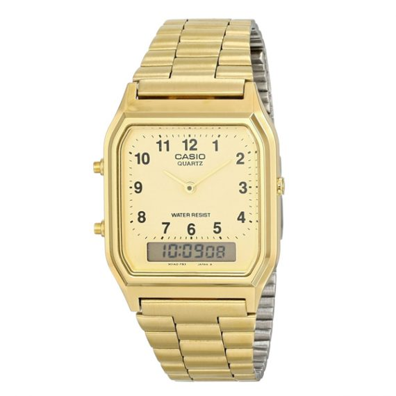 CASIO Collection AQ-230A-9B Orologio Uomo Vintage Style