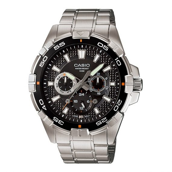 CASIO Collection MTP-1069D-1A Orologio Uomo Diver Look