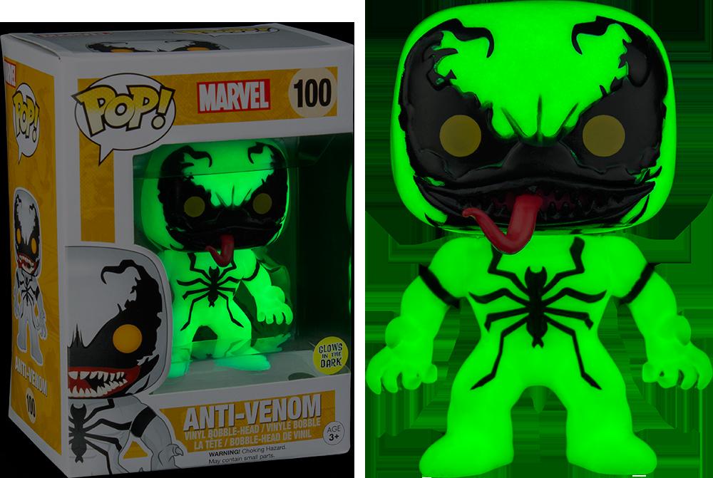 Funko Pop Marvel Anti Venom Glow In The Dark 100 Vinyl