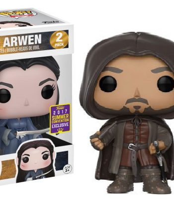 Funko POP! ARAGORN & ARWEN 2-Pack SDCC 2017 Vinyl Figure
