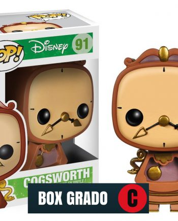 Funko POP! Disney COGSWORTH 91 Vinyl Figure BOX GRADO C