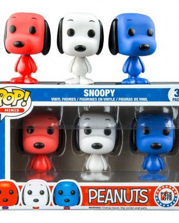 Funko POP! Peanuts 3-Pack SNOOPY Rock the Vote Vinyl Figure