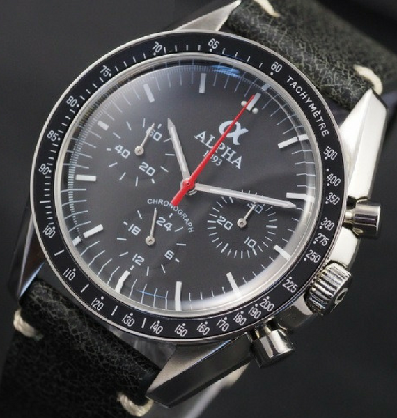ALPHA SPEEDMASTER RED ARROW LEATHER C