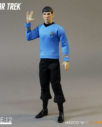 MEZCO Toys ONE:12 Collective Star Trek MR.SPOCK Action Figure 18cm