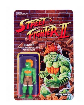 Street Fighter II Super 7 ReAction BLANKA Action Figure 10cm