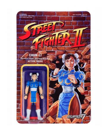 Street Fighter II Super 7 ReAction CHUN-LI Action Figure 10cm