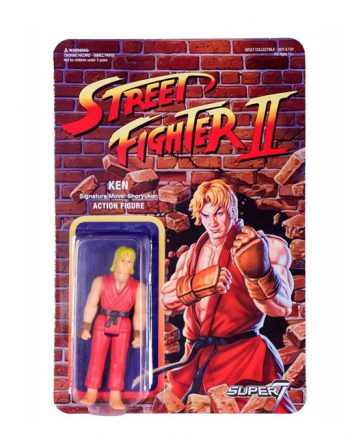 Street Fighter II Super 7 ReAction KEN Action Figure 10cm