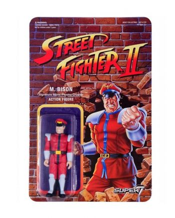 Street Fighter II Super 7 ReAction Mr.BISON Action Figure 10cm