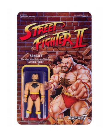 Street Fighter II Super 7 ReAction ZANGIEF Action Figure 10cm
