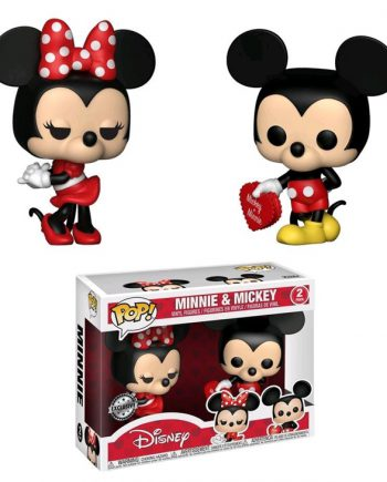 Funko POP! Disney VALENTINE MICKEY & MINNIE 2-Pack Exclusive