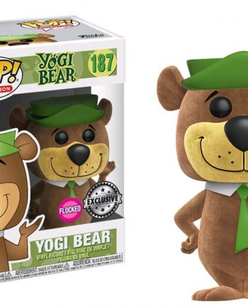 Funko POP! Animation Hanna Barbera YOGI FLOCKED 187 Vinyl Figure