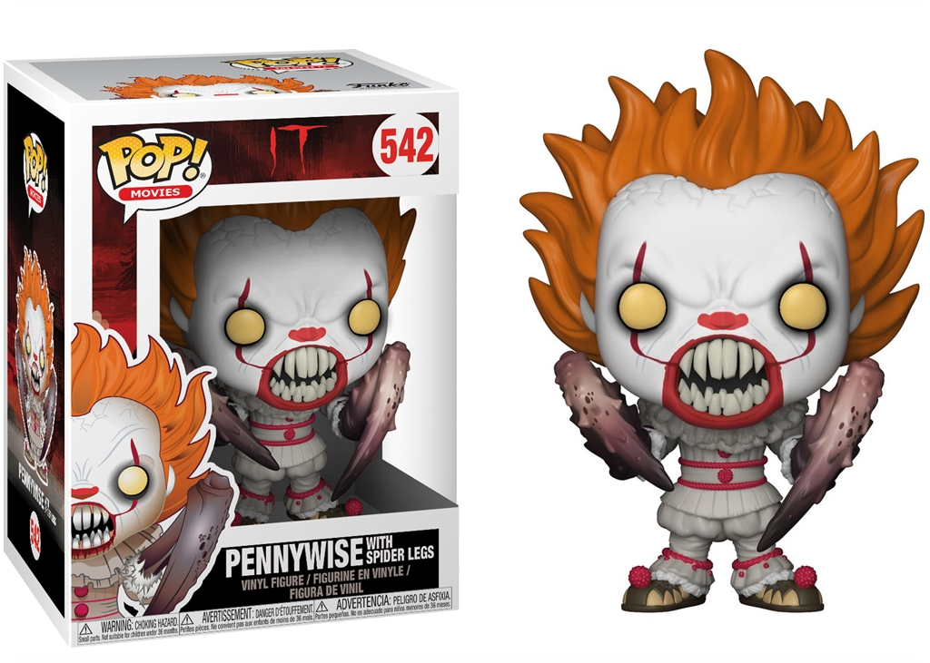 FUNKO POCKET POP IT 2 PENNYWISE CON BRACCIA APERTE PORTACHIAVI HORROR FILM CLOWN
