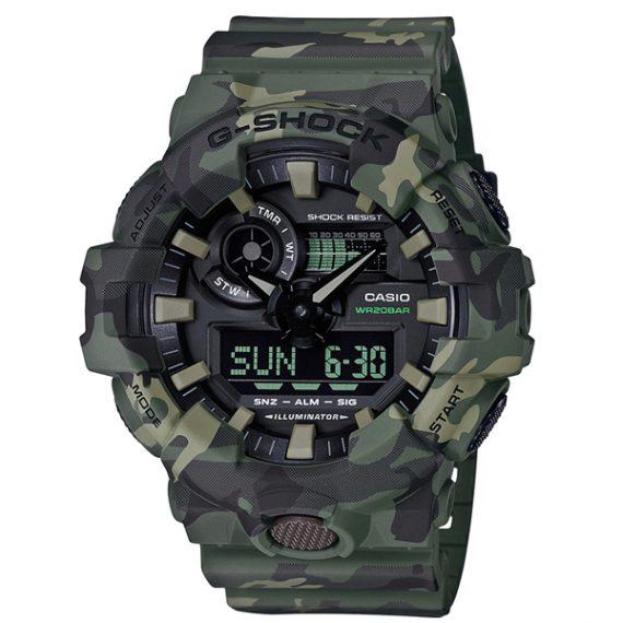 CASIO G-Shock GA-700CM-8A Orologio da Polso Uomo Camouflage
