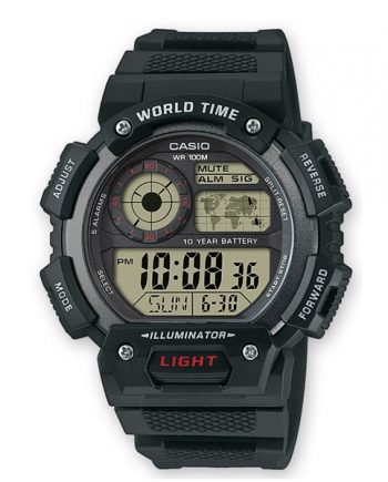 CASIO Collection AE-1400WH-1A Orologio Uomo Cronometro Digitale