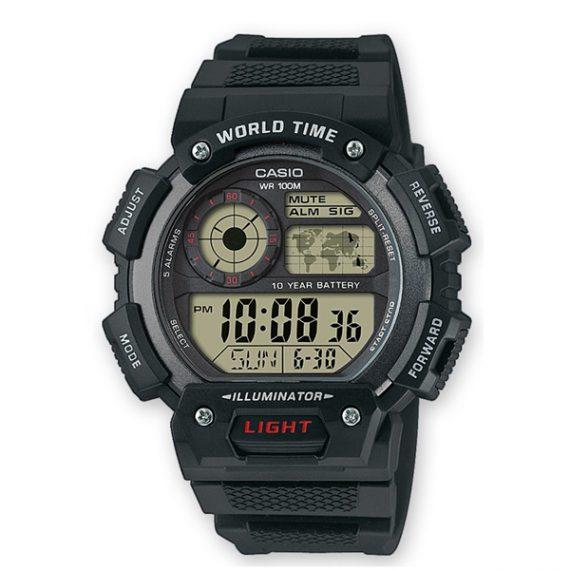 CASIO Collection AE-1400WH-1A Orologio Uomo Cronometro Digitale