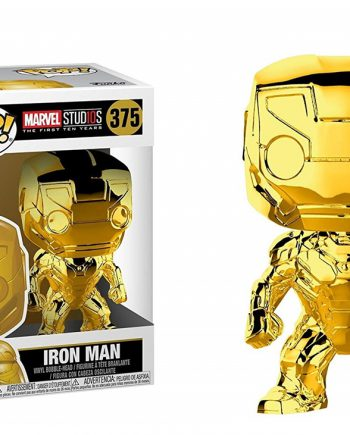 Funko POP! Marvel Studios 10 IRON MAN Chrome GOLD 375