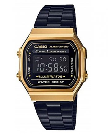 CASIO Collection A168WEGB-1B Orologio Unisex Digitale Vintage Style